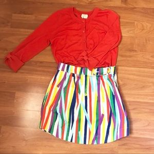 Kate Spade Saturday A-Line Rainbow Skirt with Line